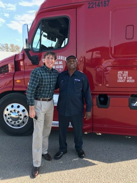Bruce Blaise (left) with Love McQueen during recent terminal visit in Hope Hull, AL.
